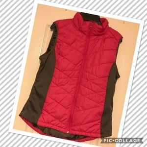 Pink and Grey Puffer Vest